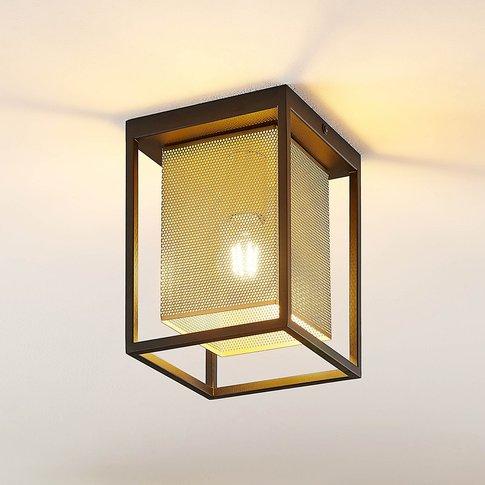 Lindby Daiana Ceiling Light, Honeycomb Pattern