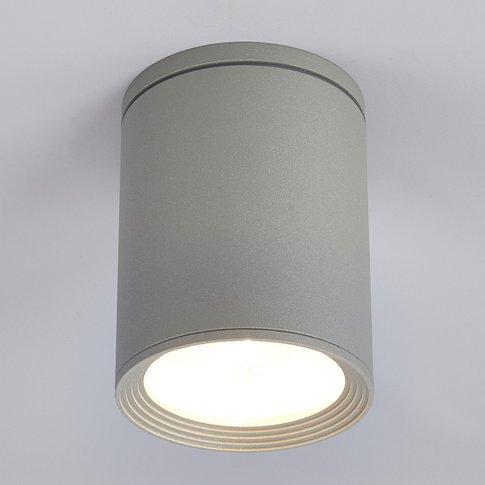 Minna Round Ceiling Light In Silver Grey
