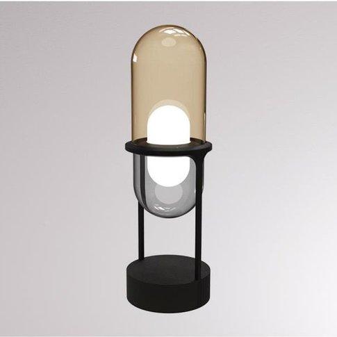 Loum Pille Led Table Lamp, Champagne/Grey