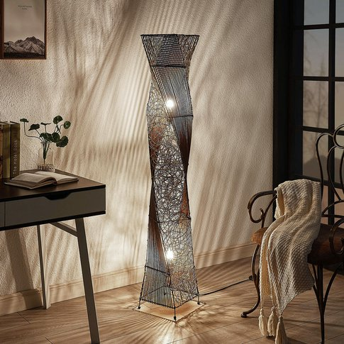 Kassia Rattan Floor Lamp For A Cosy Light
