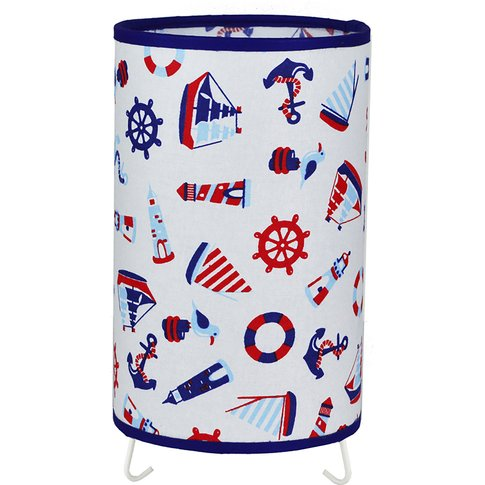 Marina Table Lamp With Colourful Maritime Motifs