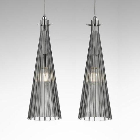 Costa Rica Pendant Light, 2-Bulb, Grey