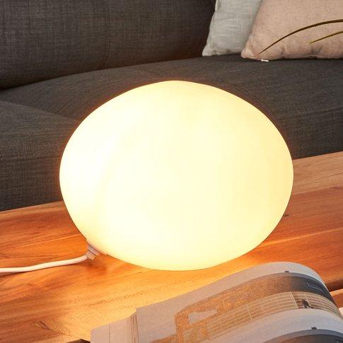 Decorative Table Lamp Glass Oval, 24Cm Diameter