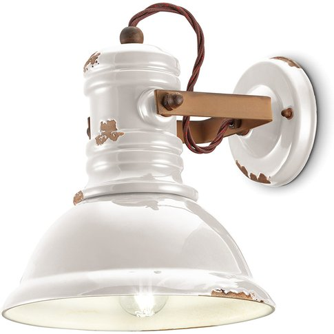 C1693 Ceramic Wall Lamp, Industrial Style, White