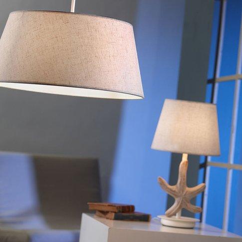 Stellina Table Lamp, Fabric Lampshade, Starfish