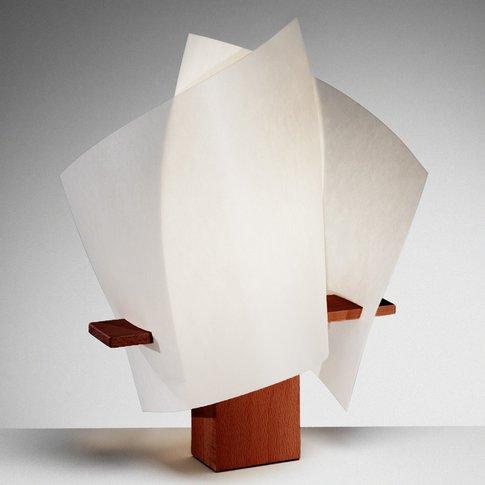 Plan B Designer Table Lamp, Chestnut