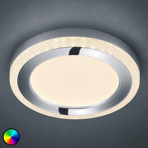 Slide Led Ceiling Light, White, Round, Ø 40Cm
