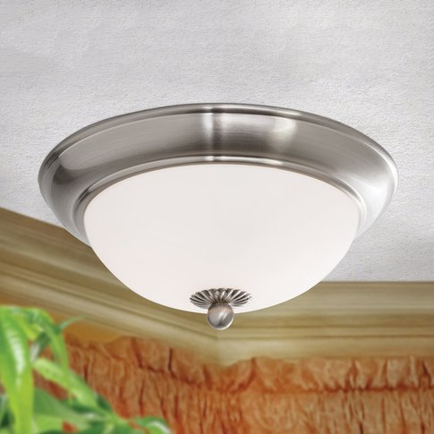 Empire Ceiling Light Satined With Opal Glass
