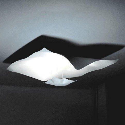 Knikerboker Crash White Ceiling Light 75Cm