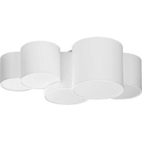 Mona Ceiling Light 5-Bulb, White