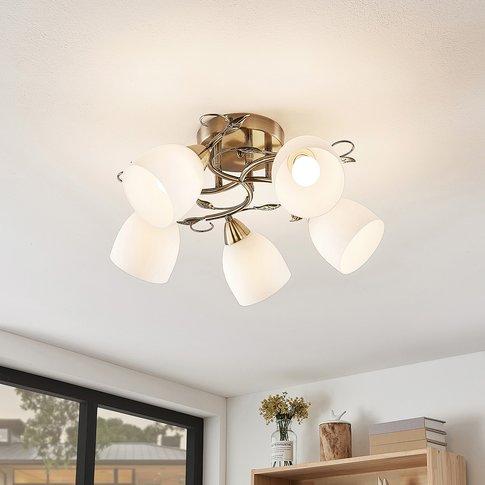 Lindby Thaddeus Ceiling Light, 5-Bulb, 23 Cm