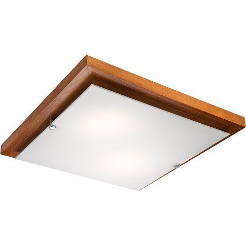 Kerio Ceiling Lamp, 35 X 35 Cm, Rustic Pine