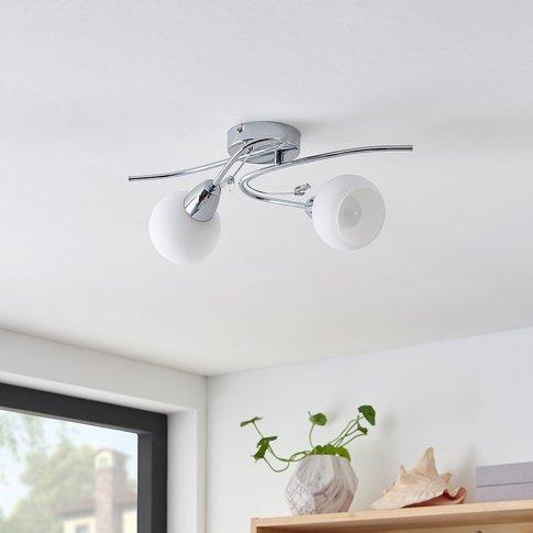Lindby Floresca Ceiling Light, 2-Bulb, Chrome