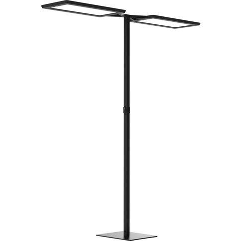 Yara.Double Led Floor Lamp Cct, Bt, Pir, Black
