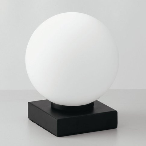 Enoire Table Lamp In Black And White, 1-Bulb
