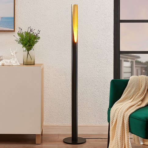 Lindby Leandro Floor Lamp, Gu10, Black And Gold