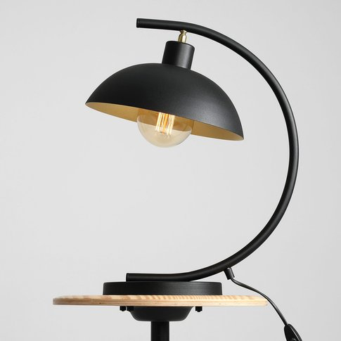 1036 Table Lamp, 1-Bulb, Black And Gold