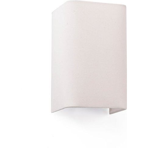 Cotton Wall Light, Angular, 20 X 12 Cm, Beige