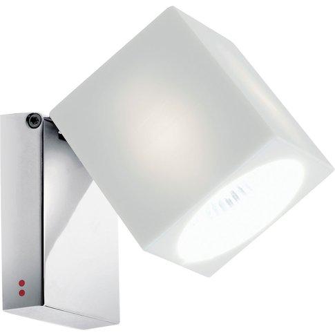 Fabbian Cubetto Wall Light Gu10 Chrome/White
