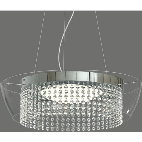 Ital - Led Pendant Light With Crystals