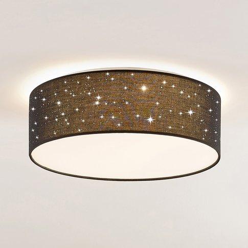 Lindby Ellamina Led Ceiling Light, 40 Cm, Black