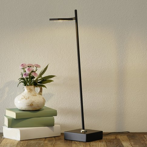 Block Led Table Lamp, Dimmable, Black