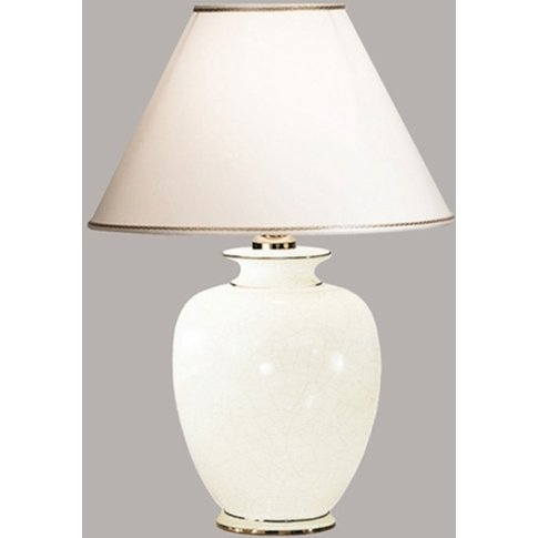 Giardino Craclee Table Lamp In White, Ø 40 Cm