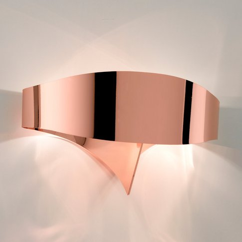 Scudo Led Wall Light Made Of Steel, Copper