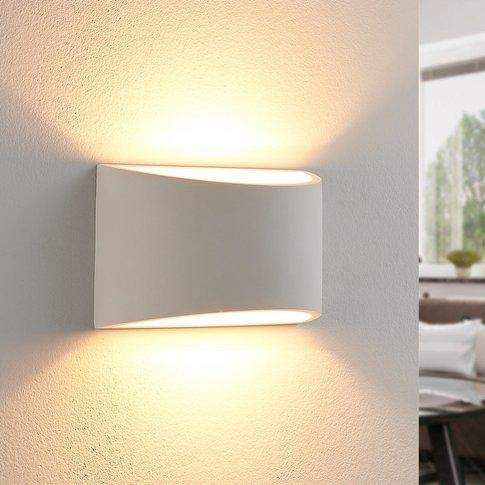 Elegant Led Wall Light Heiko Made From Plaster