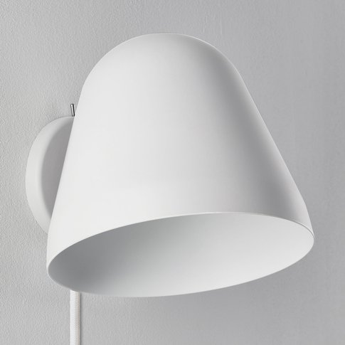 Nyta Tilt Wall Short Wall Light With Cable, White