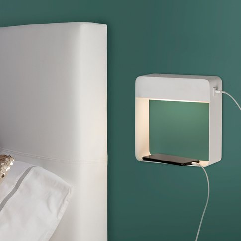 Denver Led Wall Light With Usb Charger, Switch