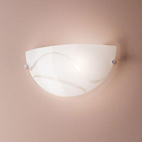 Magma Wall Light, White, Made Of Glass