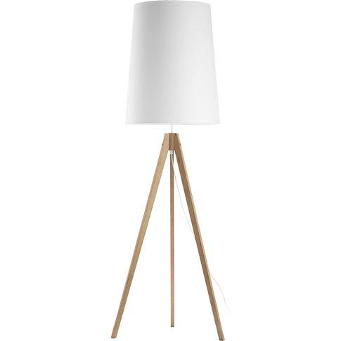 Walz Floor Lamp, Tripod Frame, White Lampshade