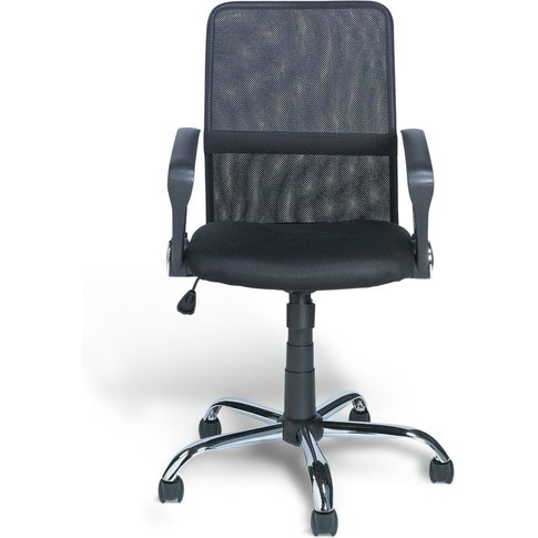 Habitat Mesh Mid Back Ergonomic Office Chair - Black...