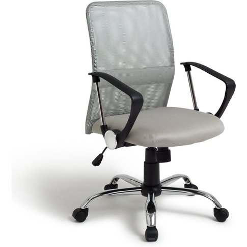 Habitat Mesh Mid Back Ergonomic Office Chair - Grey,...