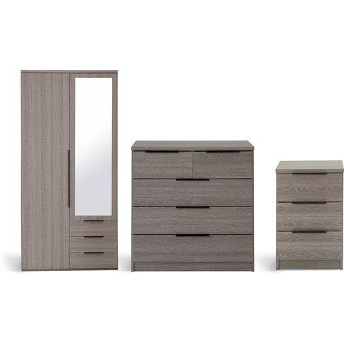 Habitat Hallingford 3 Piece Wardrobe Set -Grey Oak Effect
