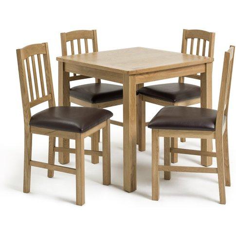 Habitat Ashwell Oak Veneer Dining Table & 4 Chairs