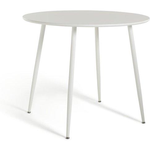 Habitat Beni Round 4 Seater Dining Table - White, White