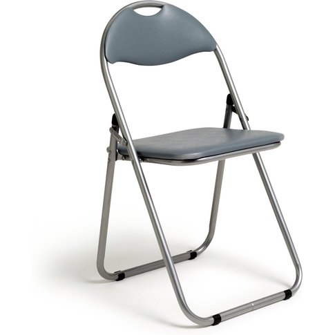 Habitat Padded Faux Leather Folding Office Chair - G...