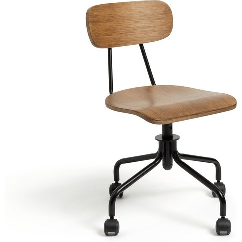 Habitat Old School Ergonomic Office Chair - Dark Oak