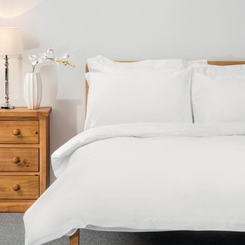 Comfort Percale Duvet Cover White Double
