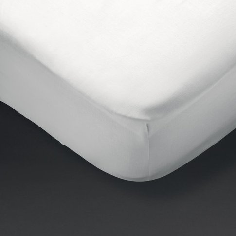 Essentials Pyramid Fitted Sheet White Double
