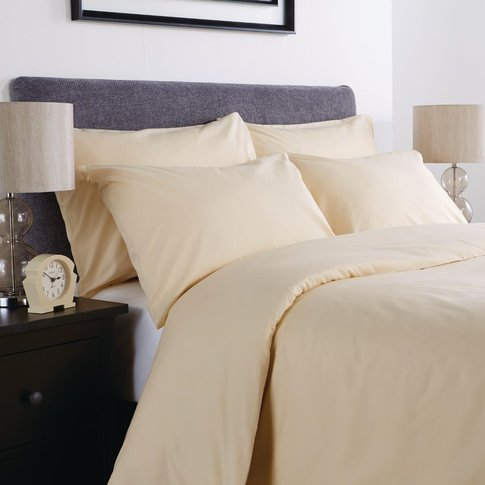 Comfort Percale Fitted Sheet Oatmeal Single