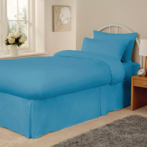 Essentials Spectrum Fitted Sheet Turquoise Small Double