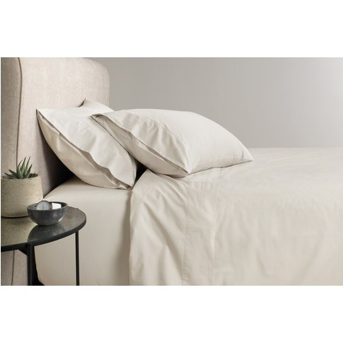 Sheridan 300tc Classic Percale Fitted Sheet - Sand /...