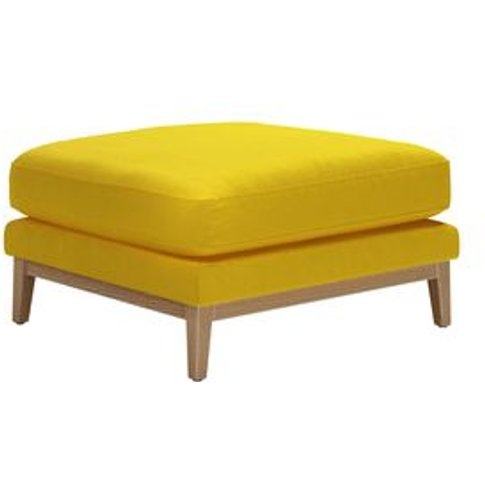Costello Large Rectangular Footstool With Wooden Pli...