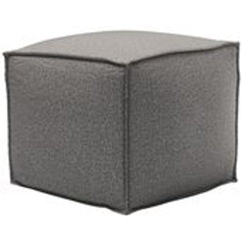 Isaac Small Square Footstool In Badger Dappled Visco...