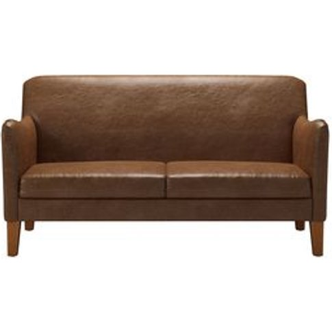 Lily 2 Seat Sofa In Tan Vintage Leather
