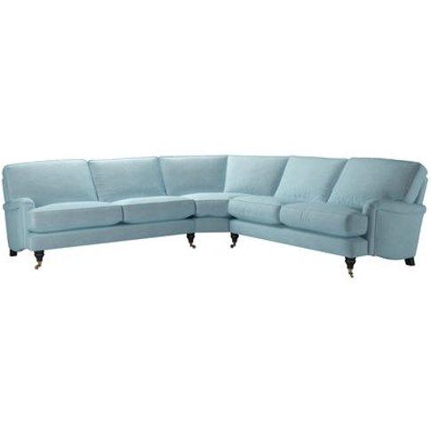Bluebell Large Corner Sofa In Powder Blue Smart Velvet
