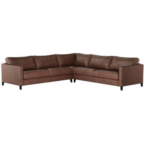 Izzy Large Corner Sofa In Satchel Vintage Leather